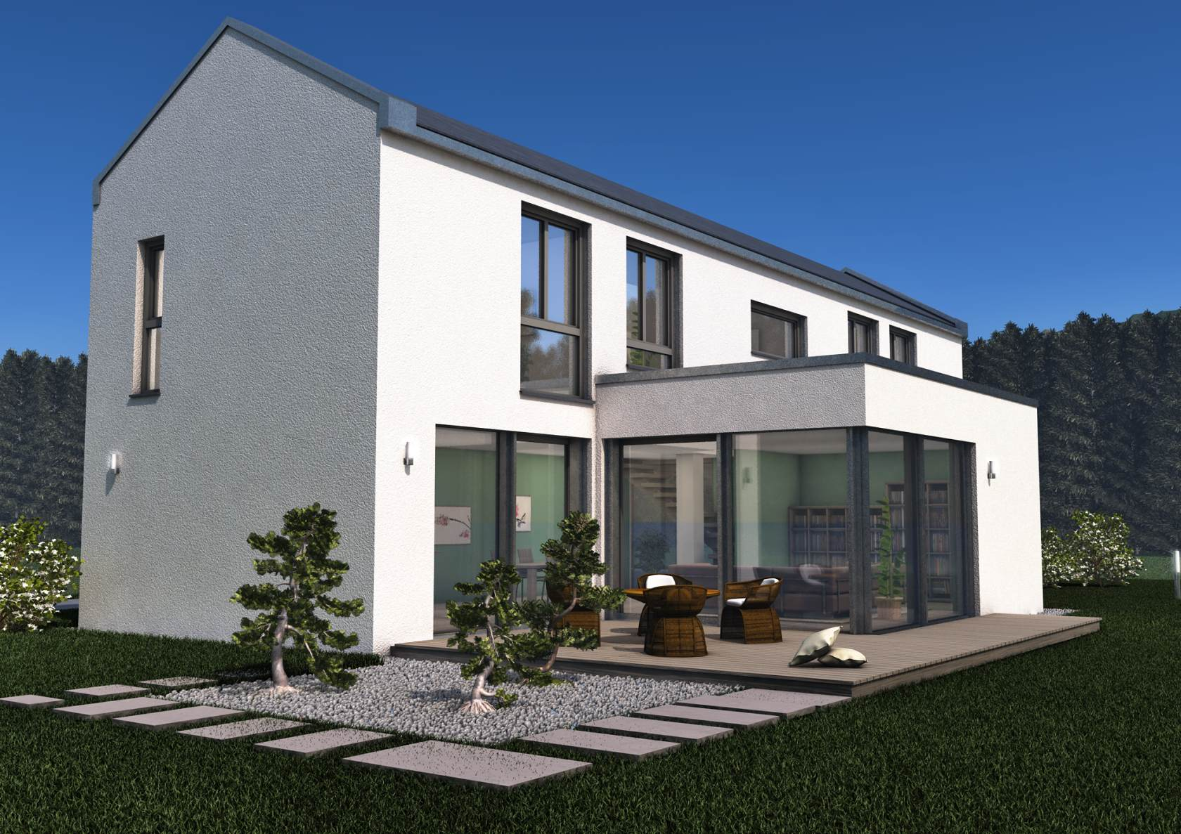 Show modern house roofing catalogue - Glass house show ...