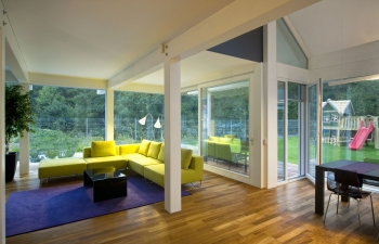 Glass house - a mix of indoor and outdoor living