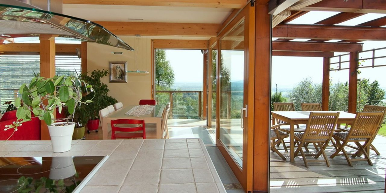 Glass house with a view