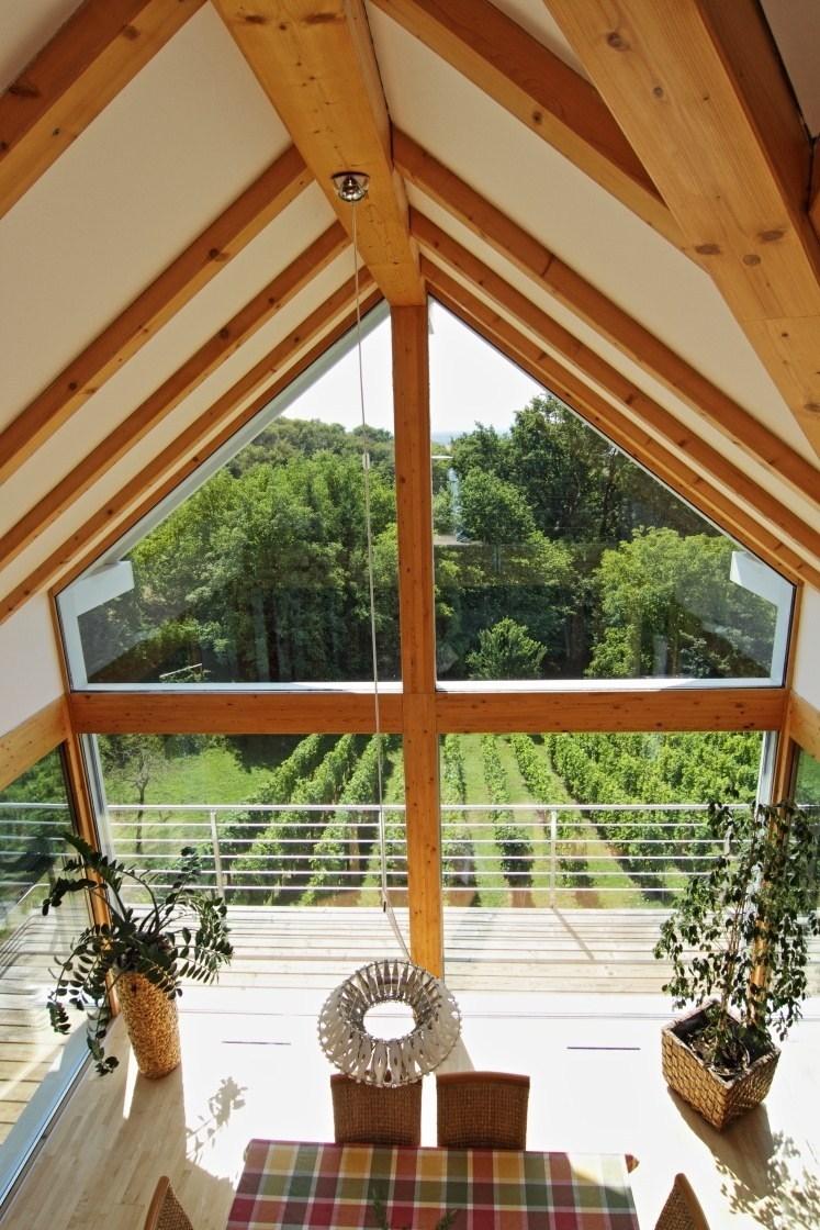 Glass house among the vinyards