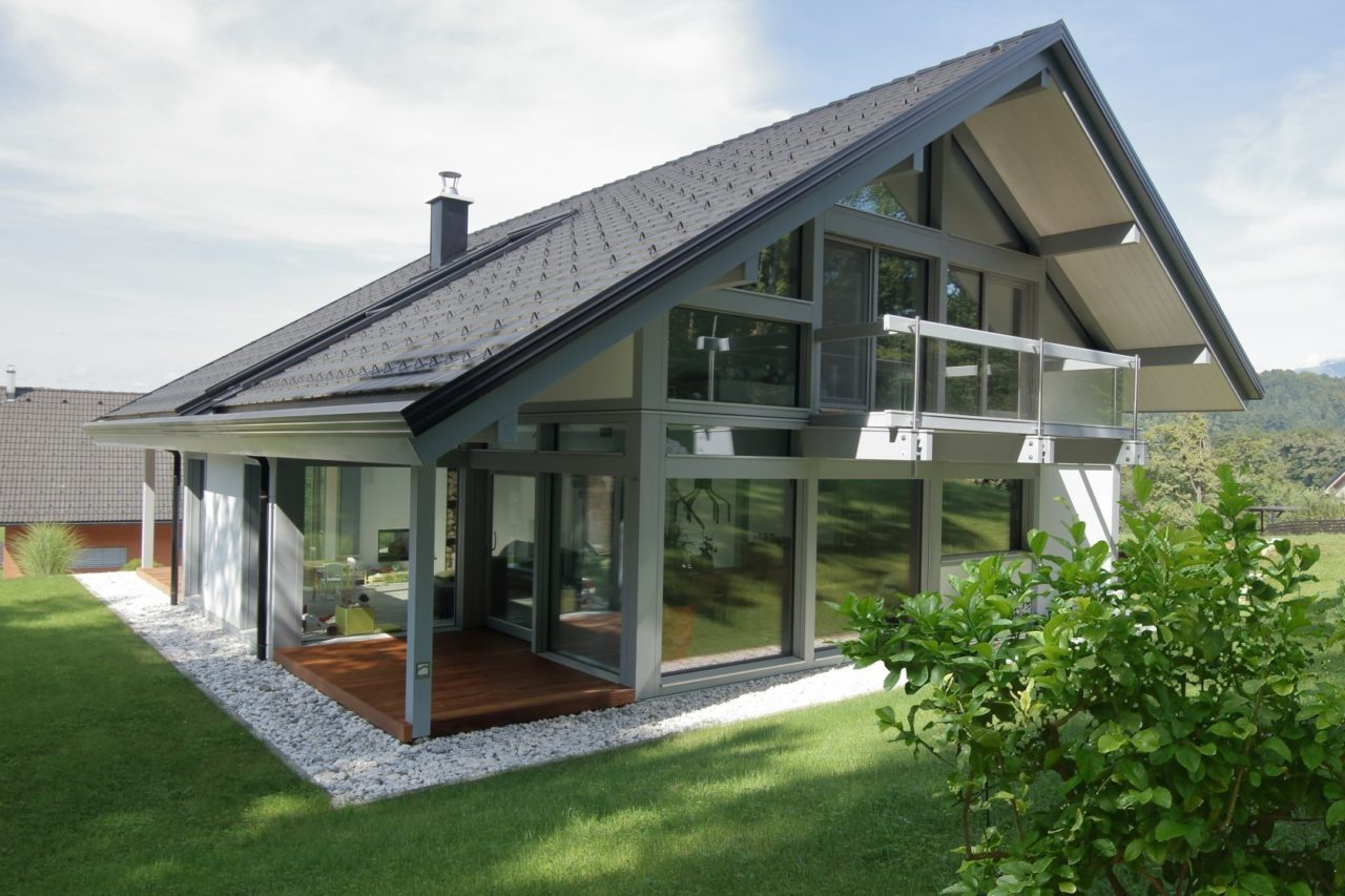 Glass wooden house KAGER
