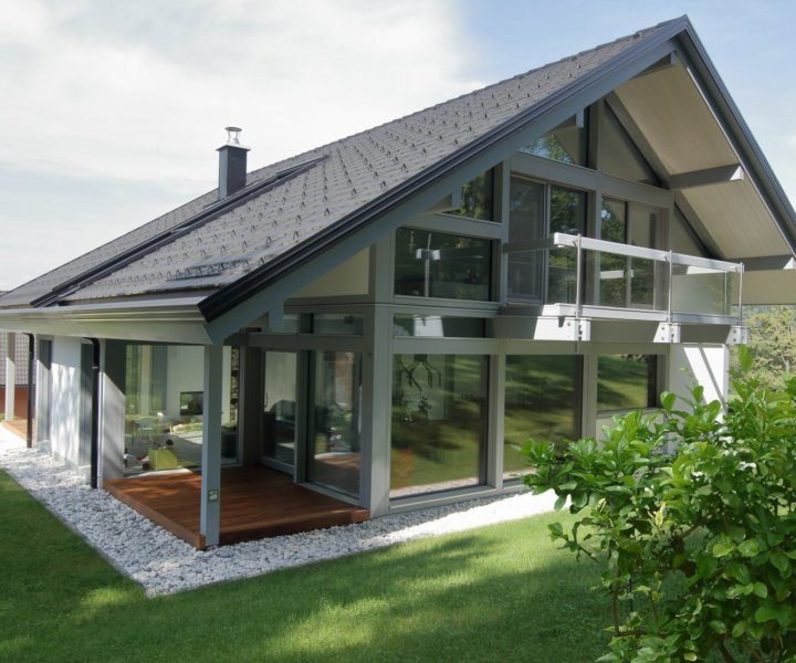 Exclusive house, Design house, glass timber house, modern glass house, individual house